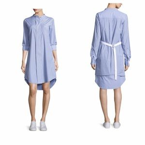 Theory Jodalee Taff Stripe Shirt Dress Size 4